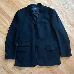 Nautica Black Wool Blazer Sport Coat 42R A4